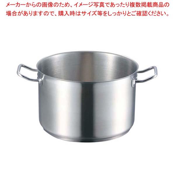 【まとめ買い10個セット品】 EBM 18-8 プロシェフ IH 半寸胴鍋 28cm 蓋無【 IH・ガス兼用鍋 】