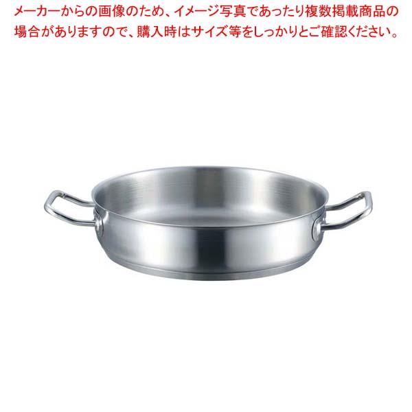 【まとめ買い10個セット品】 EBM 18-8 プロシェフ IH 外輪鍋 34cm 蓋無【 IH・ガス兼用鍋 】