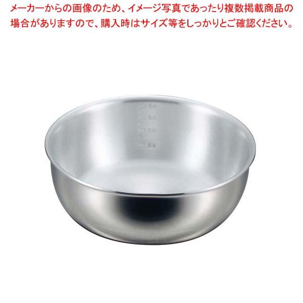 【まとめ買い10個セット品】 EBM プロシェフ 2PLY IH ヤットコ鍋(目盛付)18cm【 IH・ガス兼用鍋 】