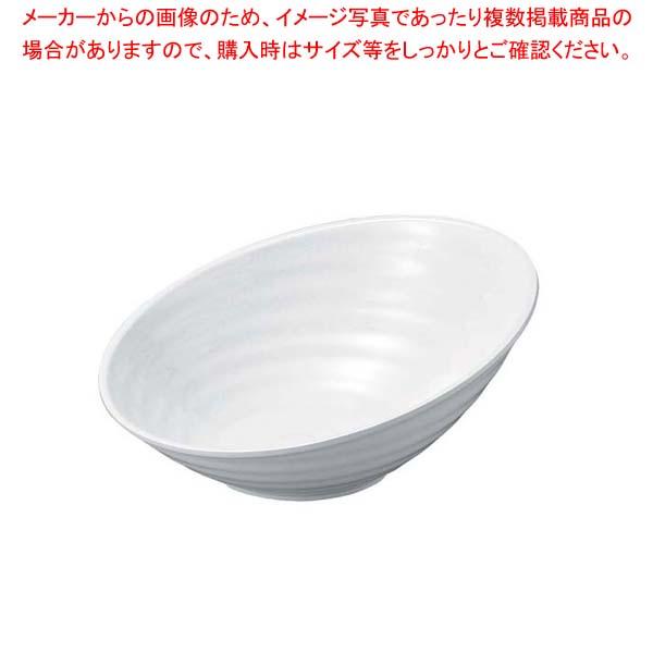 【まとめ買い10個セット品】 ニューホワイト ロクロ目ハス切盛鉢 35cm【 和・洋・中 食器 】