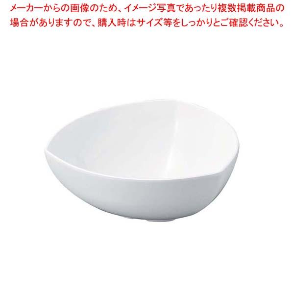 【まとめ買い10個セット品】 ニューホワイト 三角胴張深鉢 28cm【 和・洋・中 食器 】