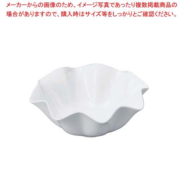 【まとめ買い10個セット品】 ニューホワイト ウェーブ丸盛鉢 23cm【 和・洋・中 食器 】
