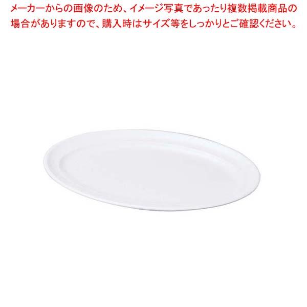 【まとめ買い10個セット品】 ニューホワイト 小判盛皿 47cm【 和・洋・中 食器 】