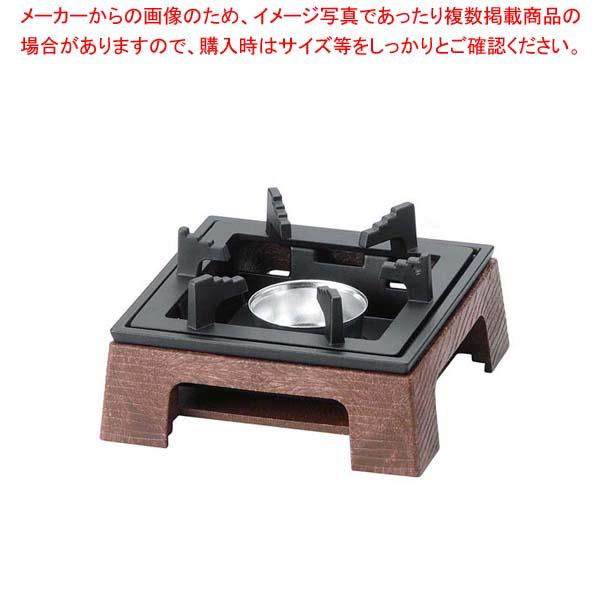 【まとめ買い10個セット品】 樹脂製民芸風こんろ M11-089 茶【 卓上鍋・焼物用品 】