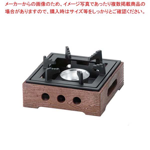 【まとめ買い10個セット品】 樹脂製民芸風こんろ M11-503 茶【 卓上鍋・焼物用品 】