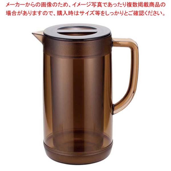 ダブルピッチャー 1.7L 【まとめ買い10個セット品】 】 カフェ・サービス用品・トレー ブラウン【 UK