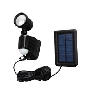 【まとめ買い10個セット品】 ソーラー式LED防犯センサーライト 1灯式 ブラック LSL-SBSN-200