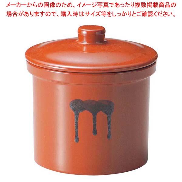 【まとめ買い10個セット品】 蓋付切立瓶 10号 18.0L 紅星窯【 ストックポット・保存容器 】