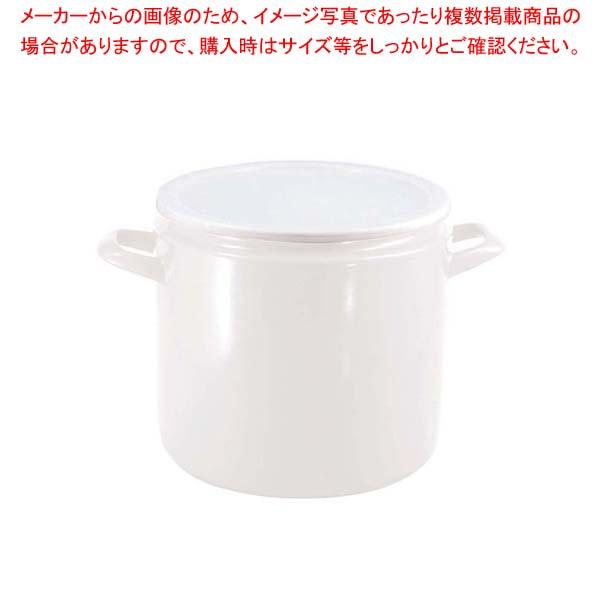 【まとめ買い10個セット品】 ホーロー漬け物器 24cm YA-24ST・W【 ストックポット・保存容器 】