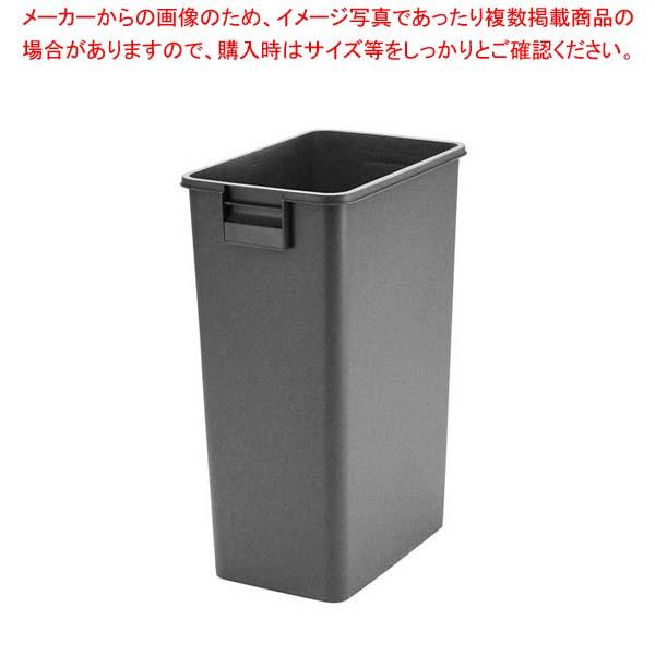 【まとめ買い10個セット品】 BK ダスト角ペール キャスター無 45型 本体【 清掃・衛生用品 】