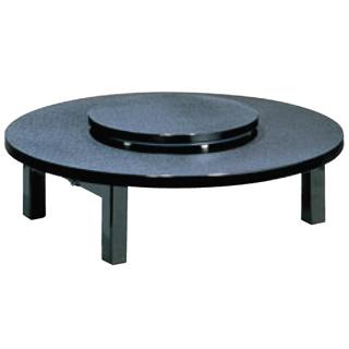 中華テーブル 丸(折足型)メラミン黒乾漆 1500型【 メーカー直送/後払い決済不可 】