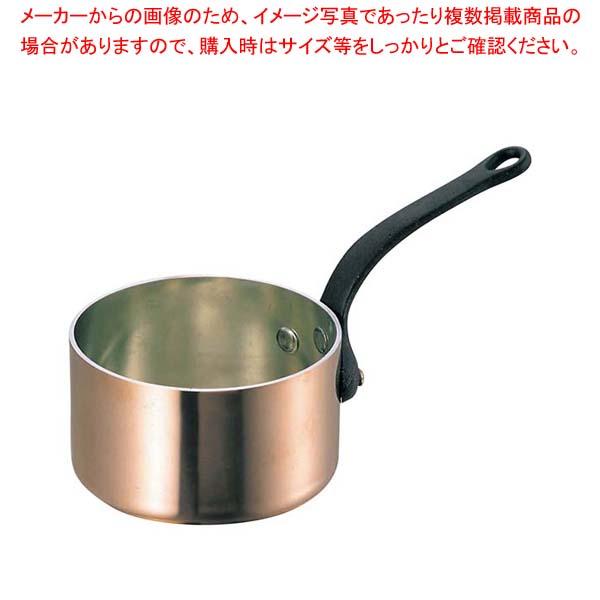 SW 銅 極厚 深型 片手鍋 蓋無(鉄柄)24cm