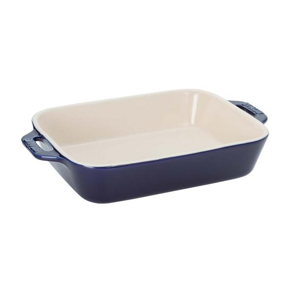 ストウブ セラミック レクタンギュラーディッシュ 27cm×20cm ブルー 40510-810