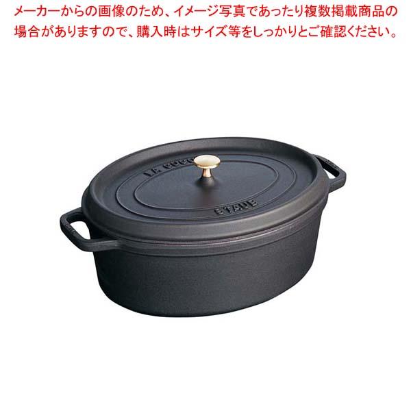 ストウブ ピコ・ココット オーバル 37cm ブラック 40509-370