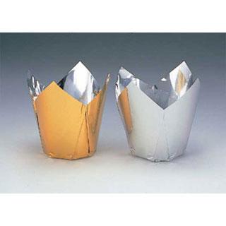 【まとめ買い10個セット品】アルミケース ケーキカップ型(100枚入) 60号ゴールド