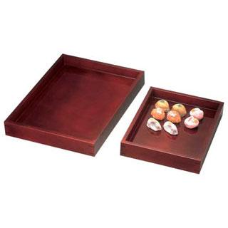 【まとめ買い10個セット品】溜塗菓子番重(両面) 小 【 バレンタイン 手作り 】
