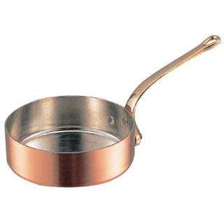 【 銅極厚鍋浅型 真鍮柄 15cm 】 【 厨房器具 製菓道具 おしゃれ 飲食店 】