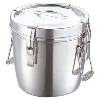 【サイズ交換OK】 18-8ダブル汁食缶(フック付) 14リットル(両手):厨房卸問屋 名調, ピュアスマイル:559def00 --- nagari.or.id