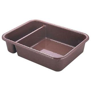 【まとめ買い10個セット品】【 バスボックス2コンパートメント 1621CBR 】【 厨房器具 製菓道具 おしゃれ 飲食店 】