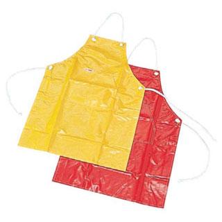 【まとめ買い10個セット品】ナイロンカラー前掛 赤【 厨房器具 製菓道具 おしゃれ 飲食店 】