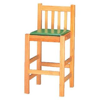【 椅子 白木[座]グリーンレザー 9-137-13 】 【 厨房器具 製菓道具 おしゃれ 飲食店 】