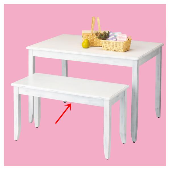 ナチュリア テーブル ホワイト W100 【 シリーズ什器 シリーズ什器(木製) 木製デザイン什器 ナチュリア テーブル ホワイト 】