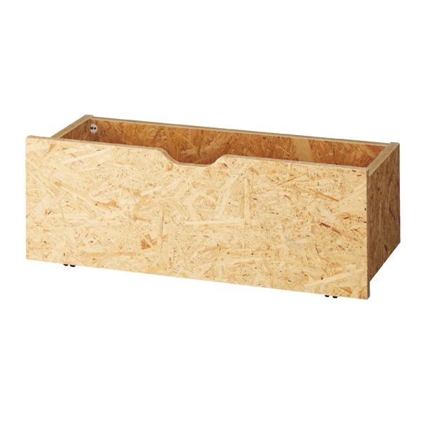 木製収納トロッコW90cm OSB t23mm (地板MDF)