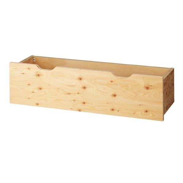 木製収納トロッコW120cm ラーチ合板t24mm (地板MDF)