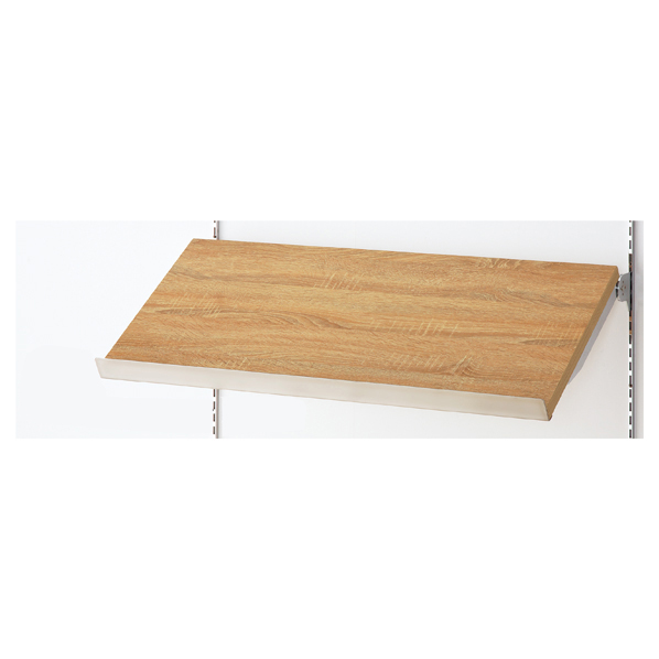 傾斜木棚セットW120×D35cm エクリュ SUSコボレ止+木棚+傾斜木棚ブラックT×2