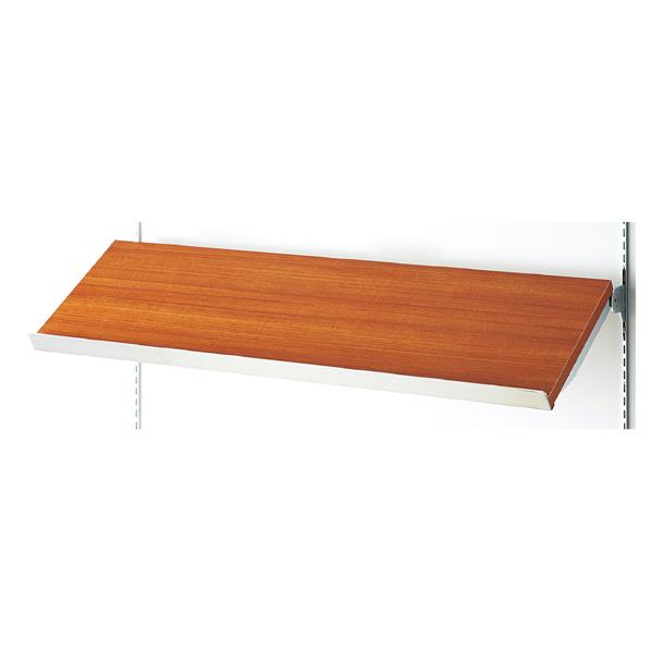 傾斜木棚セットW120×D35cmレディッシュBR SUSコボレ止+木棚+傾斜木棚ブラックT×2