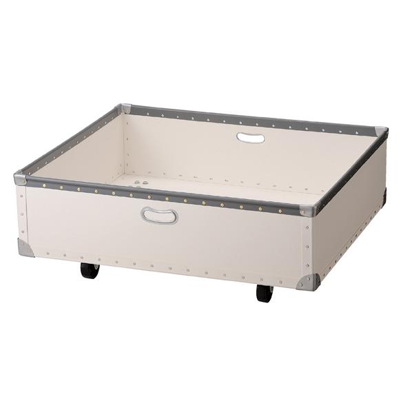 ステップテーブル用収納ボックス小 白 【 店舗什器 ボックス・バスケット ファイバーボックス ステップテーブル用収納ボックス 小 】