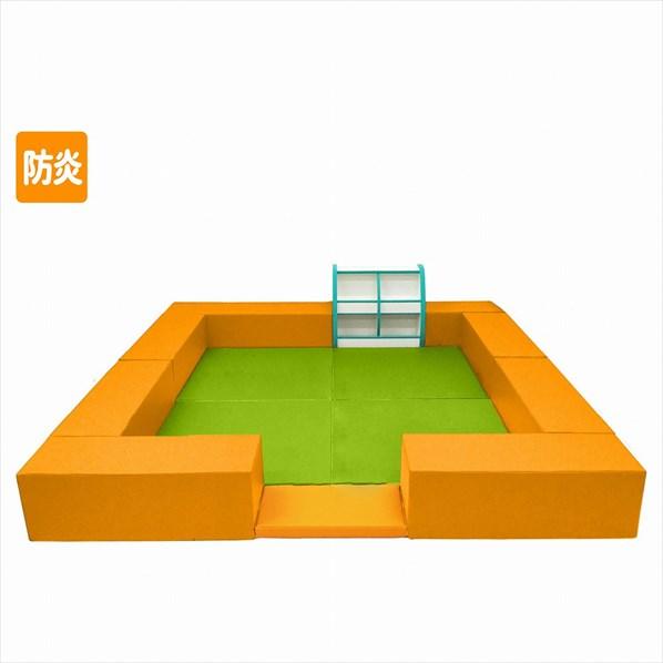 防炎キッズコーナー FU-0002 おもちゃラックセット