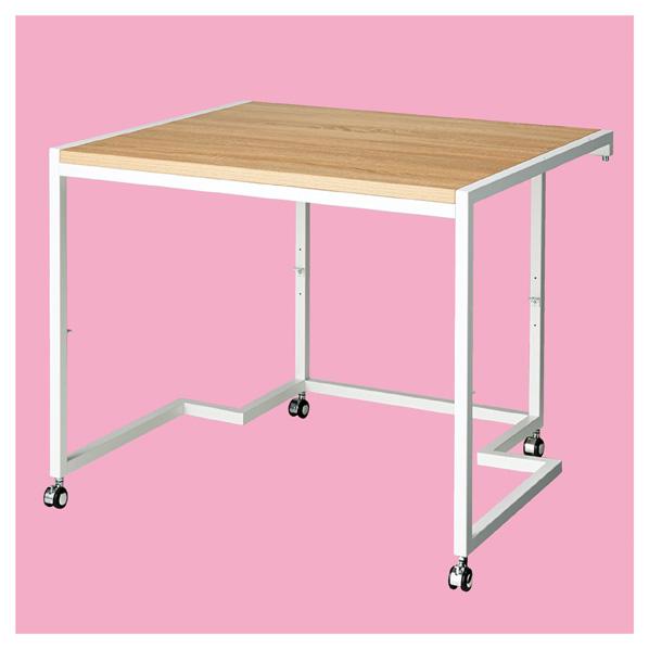 ステップテーブル ホワイト 【 店舗什器 ディスプレイ用テーブル テーブル(木製天板) ステップテーブル 】