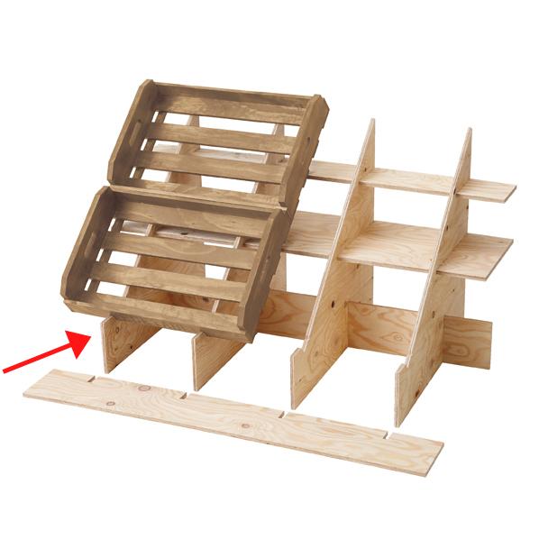 マルシェボックス用傾斜台(無塗装)