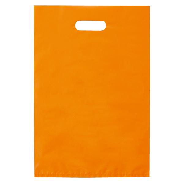 ポリ袋ハード型 オレンジ 40×50cm1000枚 【 ラッピング用品 レジ袋・ポリ袋 スクエアバッグ(無地) ポリ袋ハード型 カラー オレンジ 】