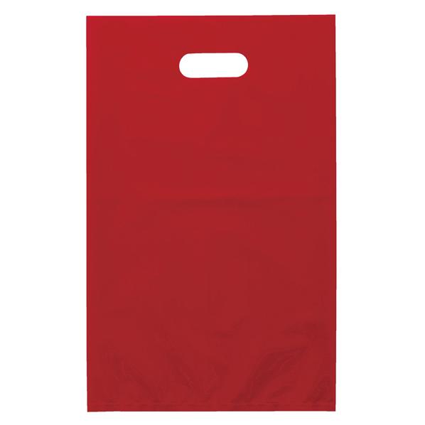 ポリ袋ソフト型 レッド 50×60cm 500枚 【 ラッピング用品 レジ袋・ポリ袋 スクエアバッグ(無地) ポリ袋ソフト型 カラー レッド 】