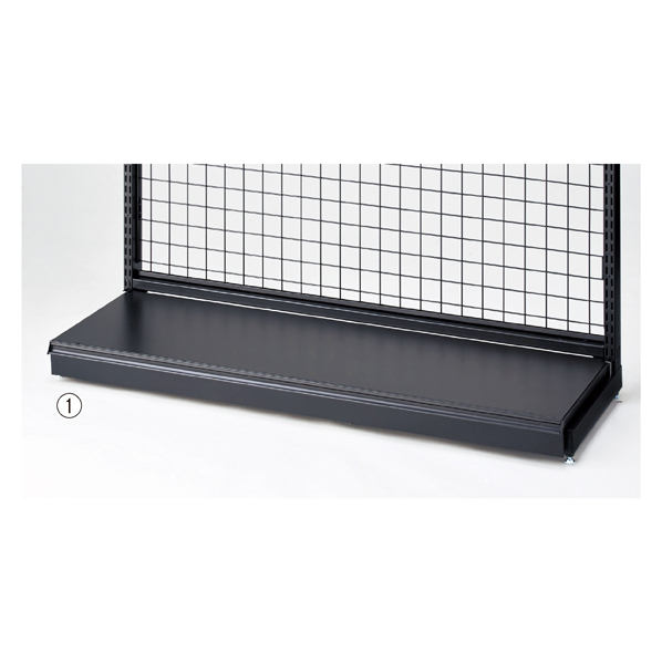 【まとめ買い10個セット品】 BR50用幕板付きステージW120×D40cm ブラック