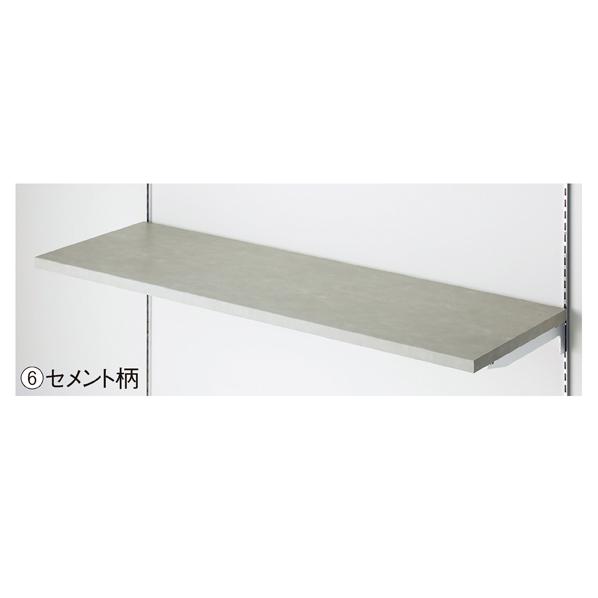 【まとめ買い10個セット品】 木棚セットW120×D30cm セメント柄