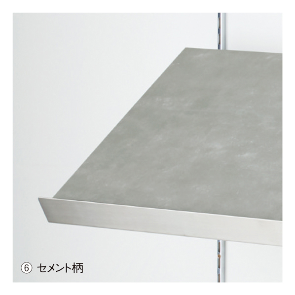 傾斜木棚セットW90×D30cm セメント柄 SUSコボレ止+木棚+傾斜木棚ブラックT×2