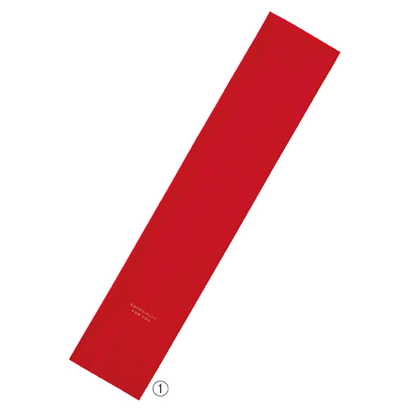 【まとめ買い10個セット品】 梨地シンプルギフトバッグ16cm レッド20枚 16×80cm
