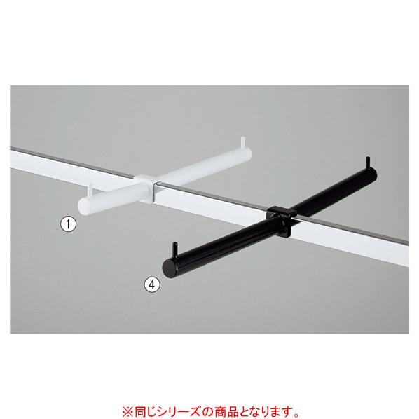 【まとめ買い10個セット品】 フェイスアウトハンガー ダブル 10+20cmブラック
