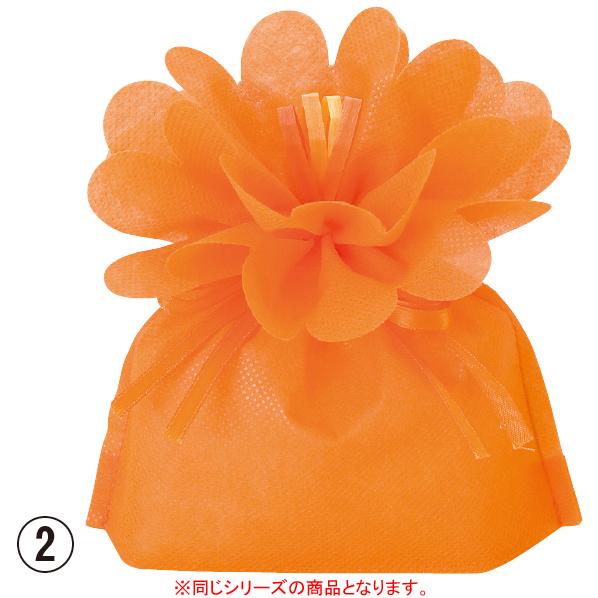 【まとめ買い10個セット品】 お花バッグ M オレンジ 10枚 【桜 サクラ さくら 春 ギフト プレゼント ラッピング 袋 箱 リボン ピンク イベント 装飾】