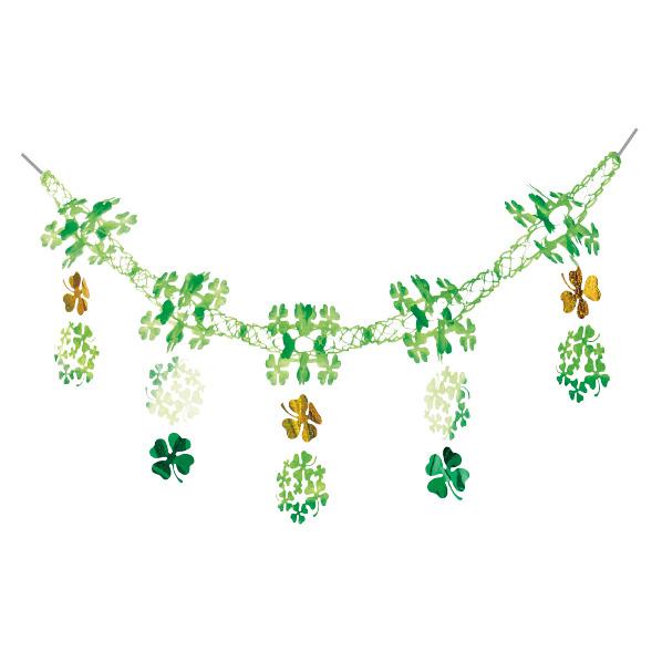 【まとめ買い10個セット品】 クローバーガーランド1本 【春 夏 グリーン 緑 飾り イベント 装飾】