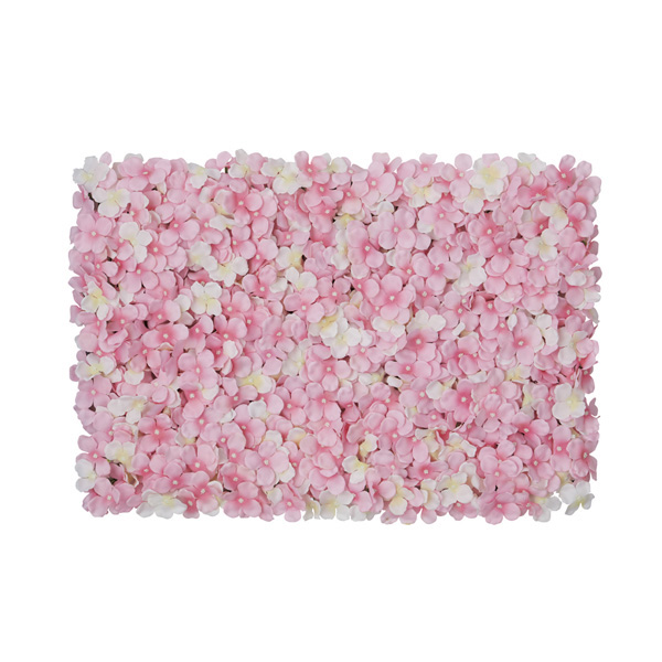 【まとめ買い10個セット品】 あじさい壁掛けマット ホワイト/ピンク1個