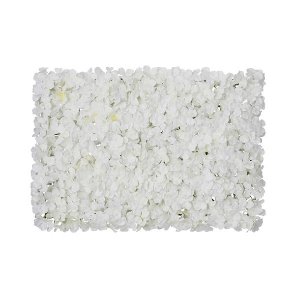 【まとめ買い10個セット品】 あじさい壁掛けマット ホワイト1個