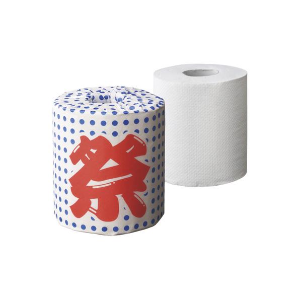 【まとめ買い10個セット品】 祭豆絞り トイレットペーパー100個