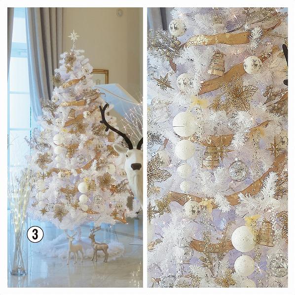 エレガントホワイトツリーセット H210*W120cm【 クリスマス クリスマスツリー ツリー 店舗装飾 飾り ディスプレイ christmas xmas 】