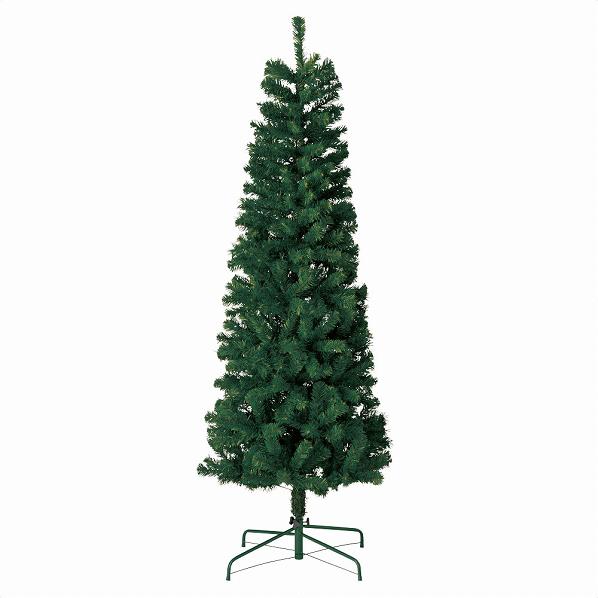 スリムPVCツリー グリーンH210×W80cm1本【 クリスマス クリスマスツリー ツリー 店舗装飾 飾り ディスプレイ christmas xmas 】