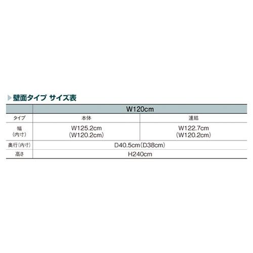 ラテラル・フォー壁面タイプステンレス(H240cm)W120cmタイプ本体【店舗什器パネルディスプレー棚店舗備品】