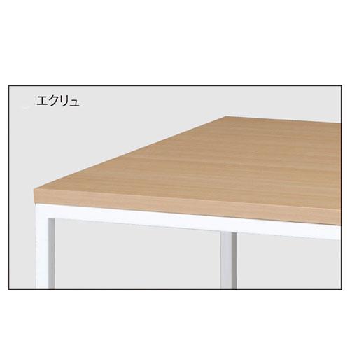 ホワイトショーテーブル W120×D80×H80cm エクリュ 【メーカー直送/代金引換決済不可】【店舗什器 パネル 壁面 店舗備品 仕切 棚】